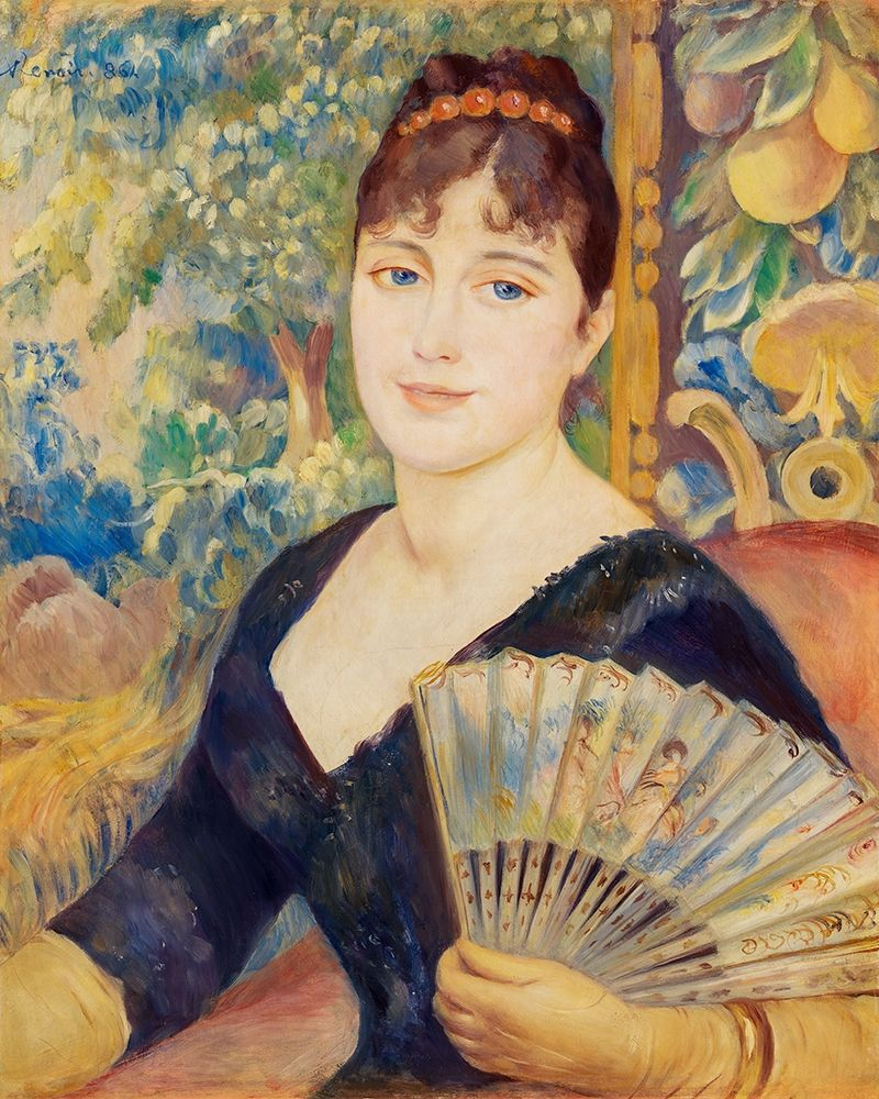 konfigurieren des Kunstdrucks in Wunschgröße Woman with Fan 1886 von Renoir, Pierre-Auguste