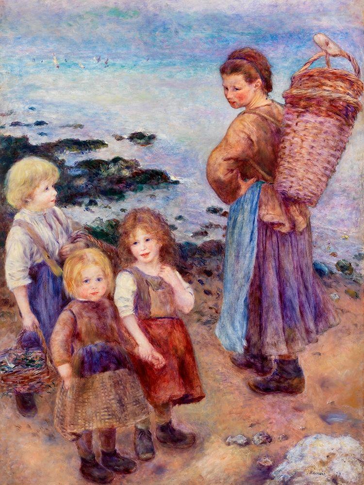 konfigurieren des Kunstdrucks in Wunschgröße Mussel-Fishers at Berneval 1879 von Renoir, Pierre-Auguste