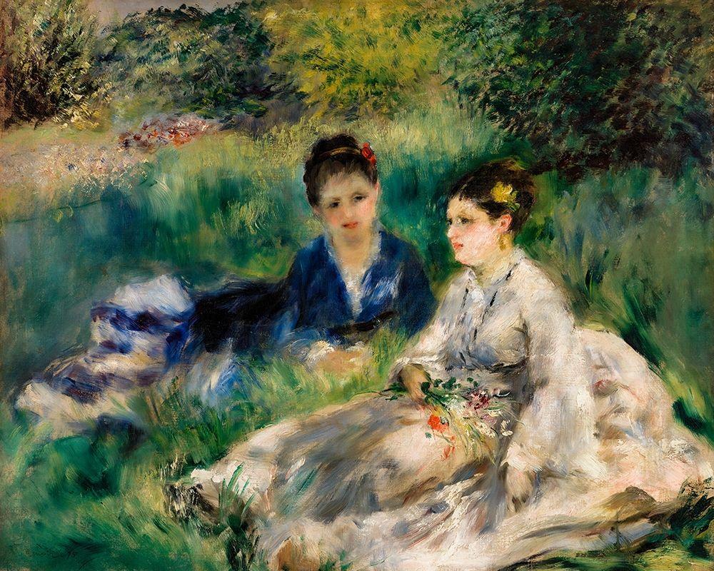 konfigurieren des Kunstdrucks in Wunschgröße On the Grass 1873 von Renoir, Pierre-Auguste