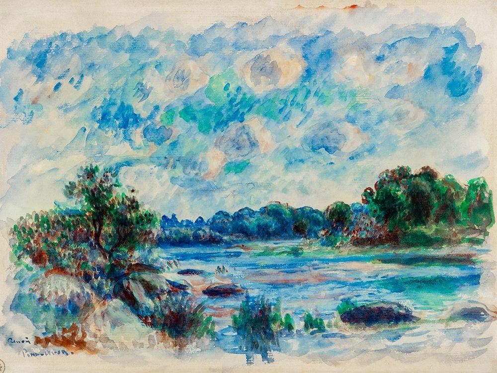 konfigurieren des Kunstdrucks in Wunschgröße Landscape at Pont Aven 1892 von Renoir, Pierre-Auguste