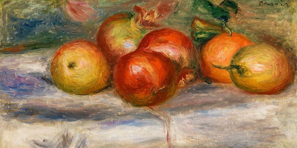 konfigurieren des Kunstdrucks in Wunschgröße Apples, Oranges, and Lemons 1911 von Renoir, Pierre-Auguste