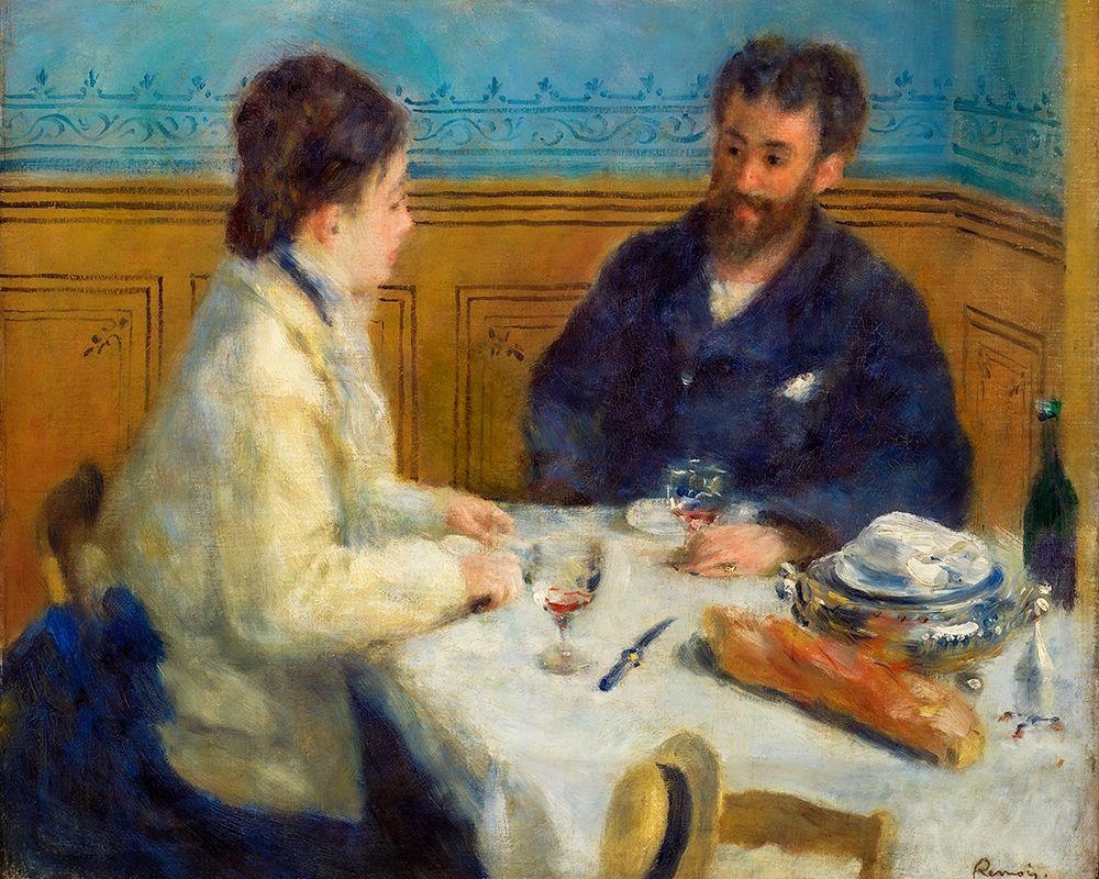 konfigurieren des Kunstdrucks in Wunschgröße Luncheon 1875 von Renoir, Pierre-Auguste