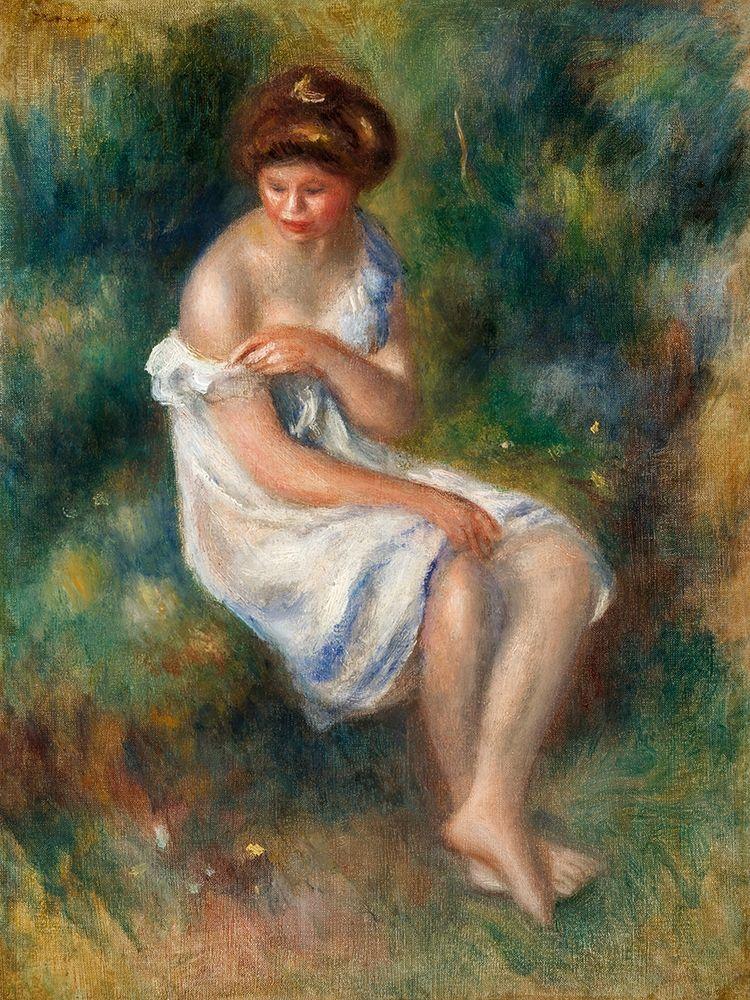 konfigurieren des Kunstdrucks in Wunschgröße The Bather 1900 von Renoir, Pierre-Auguste