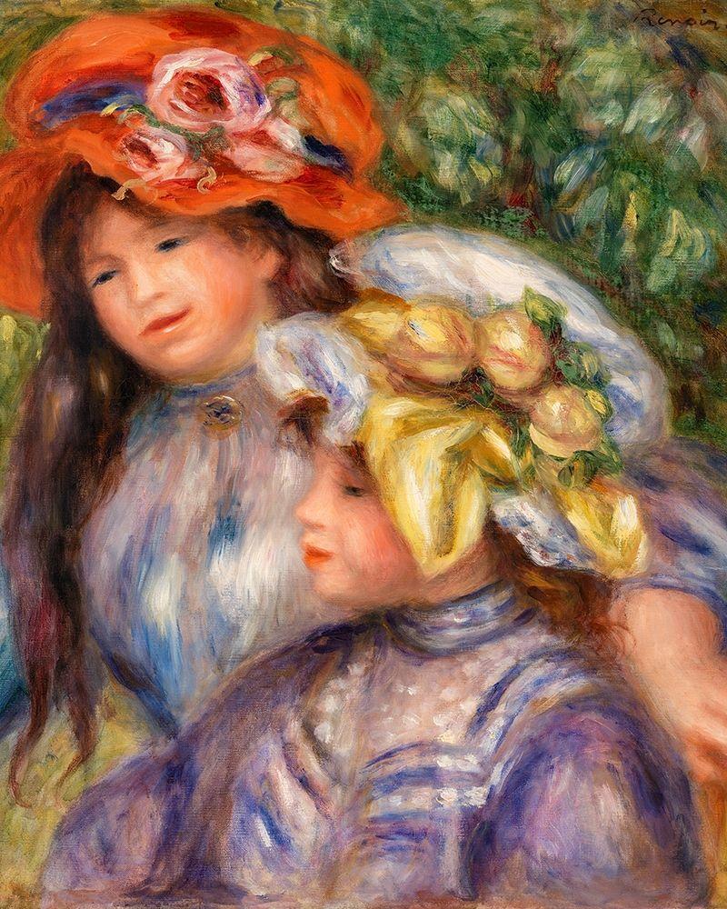 konfigurieren des Kunstdrucks in Wunschgröße Two Girls 1910 von Renoir, Pierre-Auguste