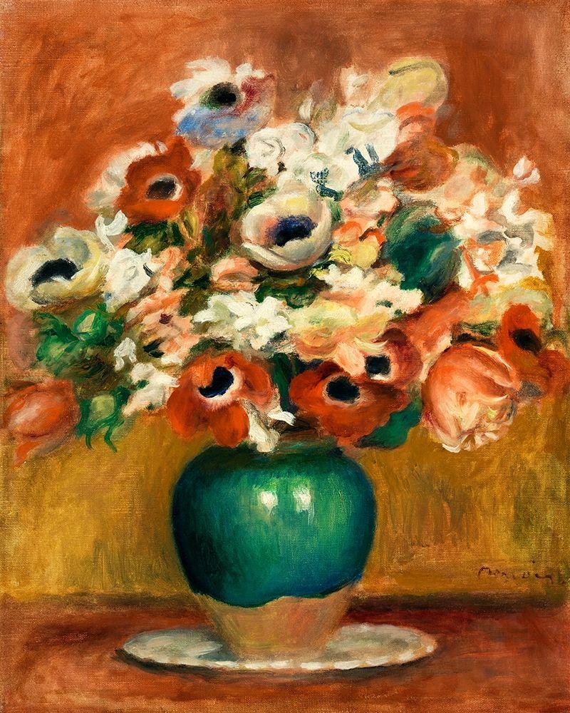 konfigurieren des Kunstdrucks in Wunschgröße Flowers 1885 von Renoir, Pierre-Auguste