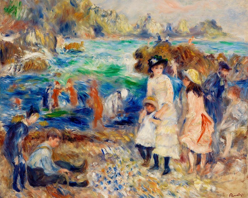 konfigurieren des Kunstdrucks in Wunschgröße Children on the Seashore, Guernsey 1883 von Renoir, Pierre-Auguste
