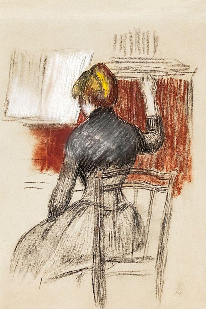 konfigurieren des Kunstdrucks in Wunschgröße Woman at a Piano von Renoir, Pierre-Auguste