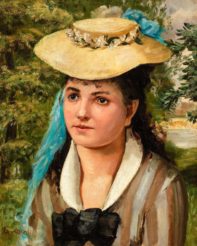 konfigurieren des Kunstdrucks in Wunschgröße Lise in a Straw Hat 1866 von Renoir, Pierre-Auguste