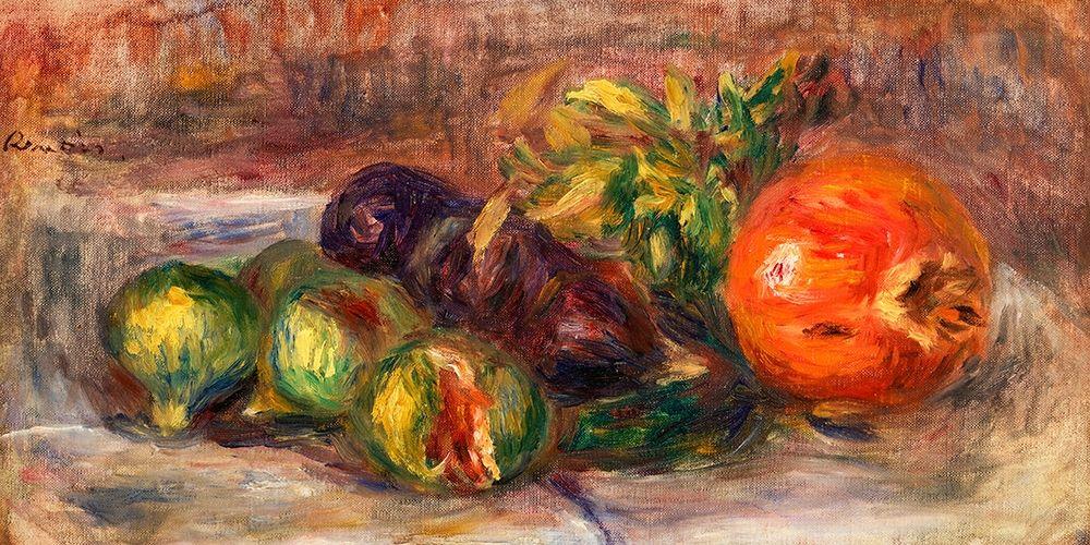 konfigurieren des Kunstdrucks in Wunschgröße Pomegranate and Figs 1917 von Renoir, Pierre-Auguste