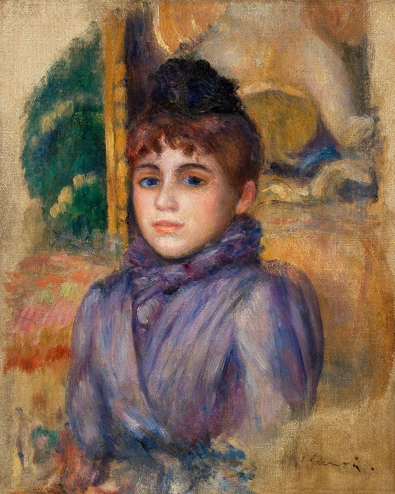 konfigurieren des Kunstdrucks in Wunschgröße Portrait of a Young Woman 1885 von Renoir, Pierre-Auguste