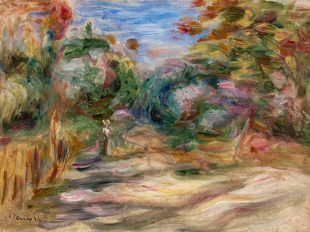 konfigurieren des Kunstdrucks in Wunschgröße Landscape 1911 von Renoir, Pierre-Auguste