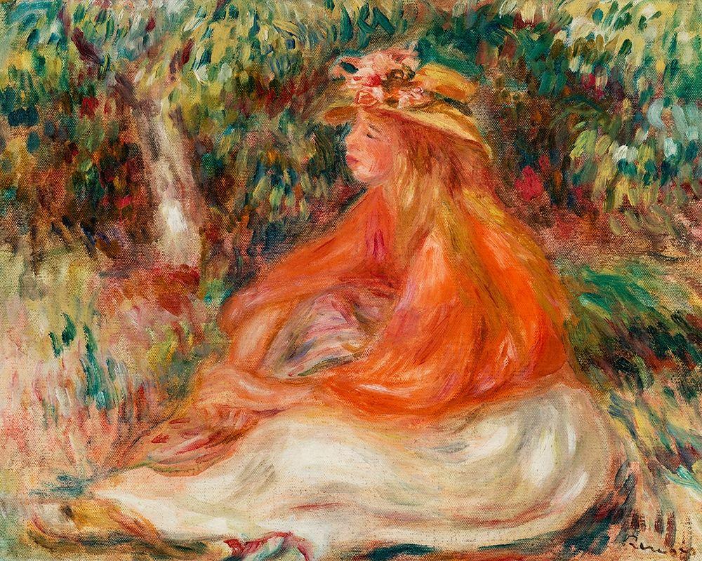 konfigurieren des Kunstdrucks in Wunschgröße Seated Woman 1910 von Renoir, Pierre-Auguste