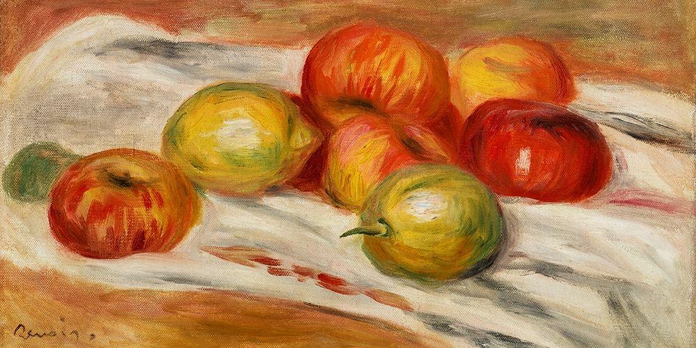 konfigurieren des Kunstdrucks in Wunschgröße Apples, Orange, and Lemon 1911 von Renoir, Pierre-Auguste