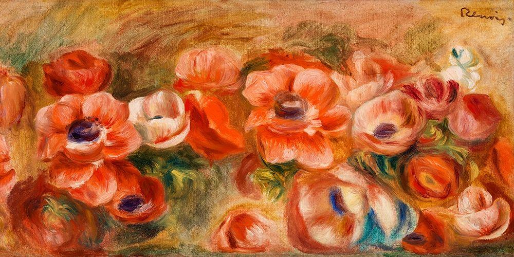 konfigurieren des Kunstdrucks in Wunschgröße Anemones 1912 von Renoir, Pierre-Auguste