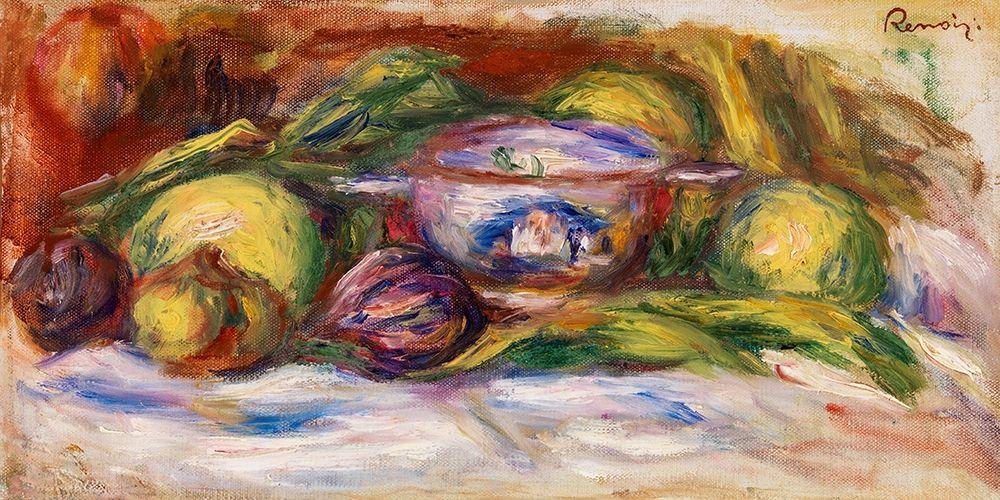 konfigurieren des Kunstdrucks in Wunschgröße Bowl, Figs, and Apples 1916 von Renoir, Pierre-Auguste