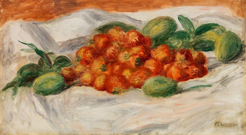 konfigurieren des Kunstdrucks in Wunschgröße Strawberries and Almonds 1897 von Renoir, Pierre-Auguste
