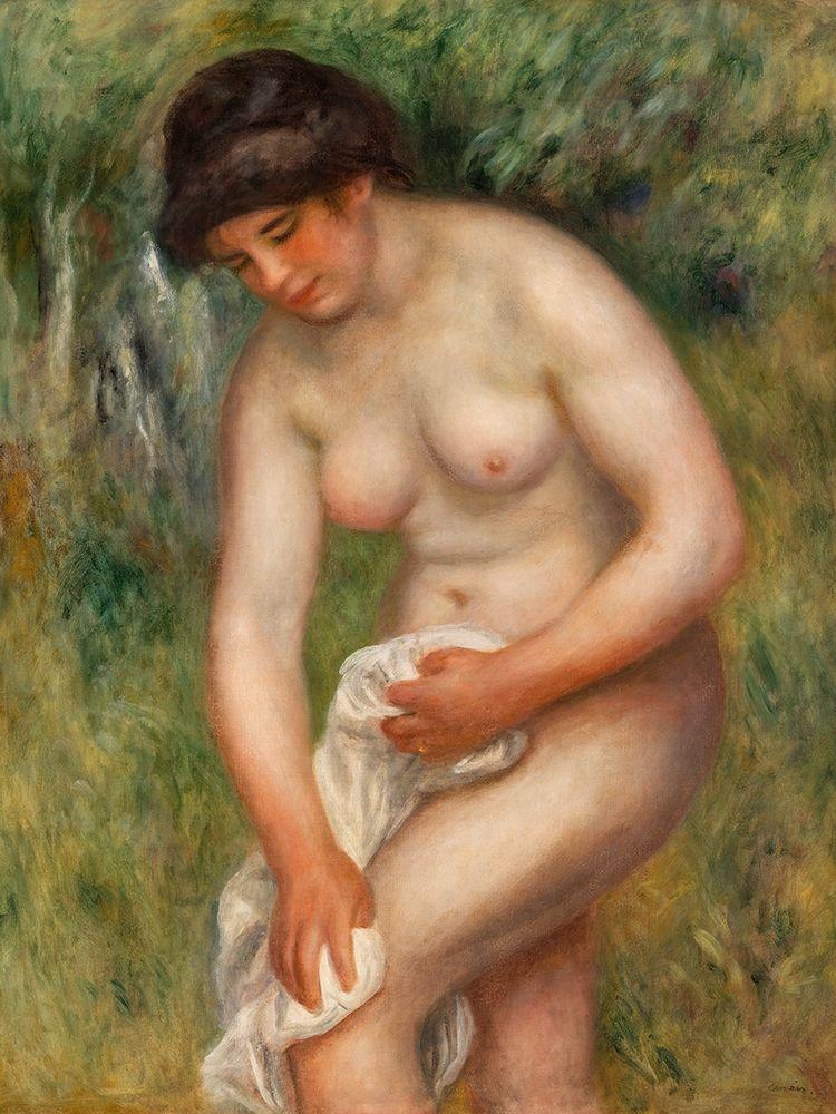 konfigurieren des Kunstdrucks in Wunschgröße Bather Drying Herself von Renoir, Pierre-Auguste