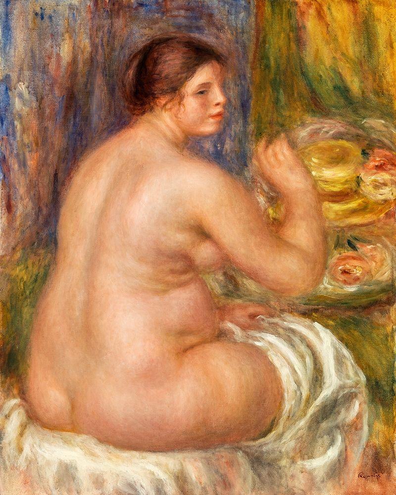 konfigurieren des Kunstdrucks in Wunschgröße Nude from the Back 1917 von Renoir, Pierre-Auguste