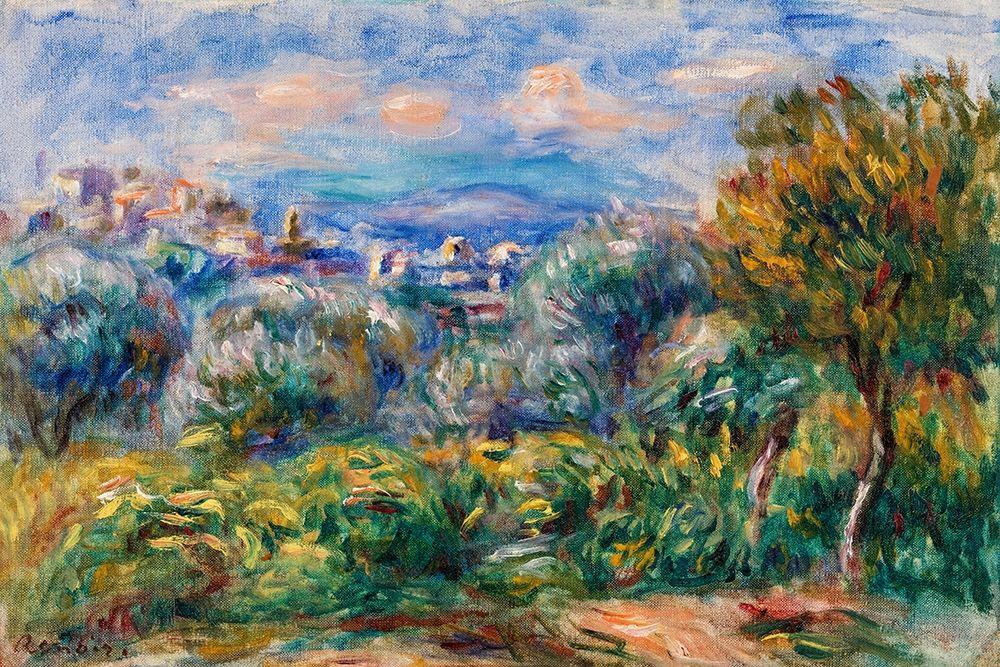 konfigurieren des Kunstdrucks in Wunschgröße Landscape 1917 von Renoir, Pierre-Auguste
