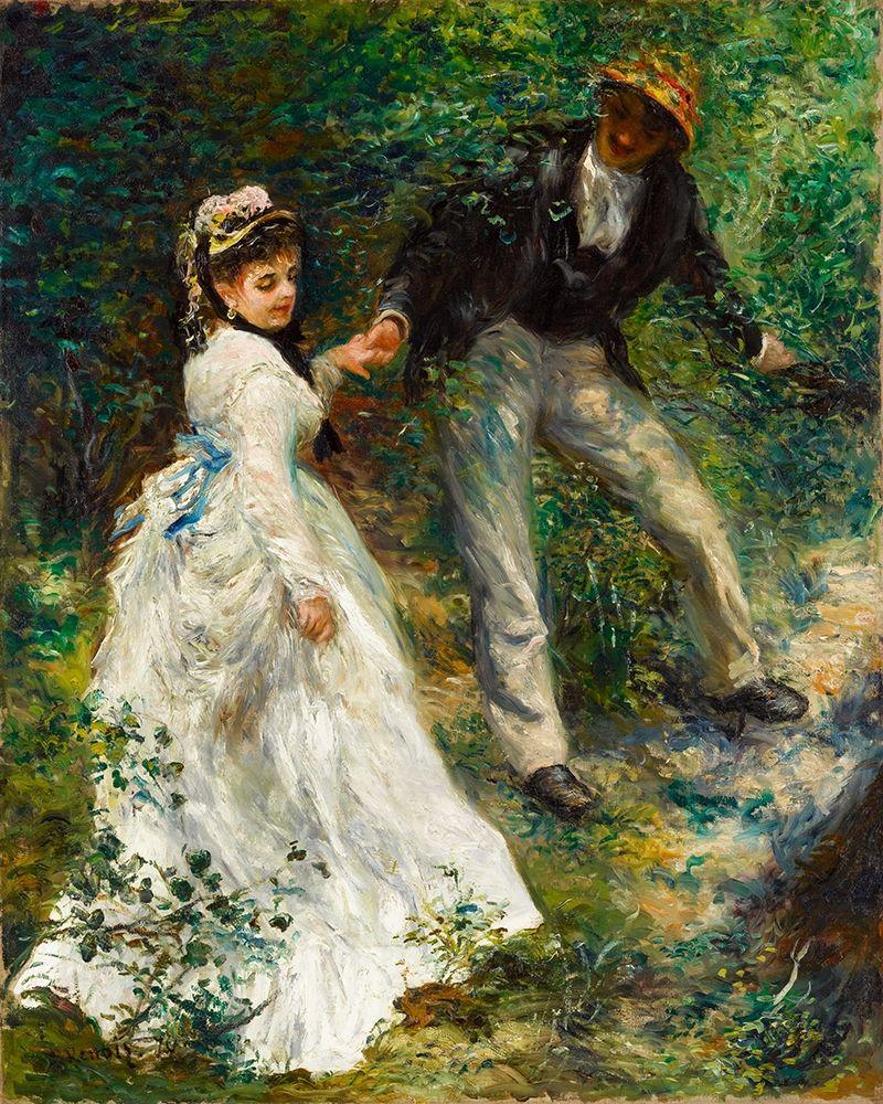 konfigurieren des Kunstdrucks in Wunschgröße La Promenade 1870 von Renoir, Pierre-Auguste