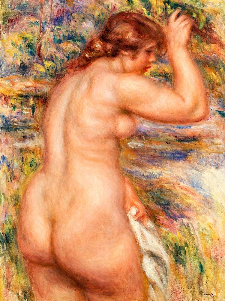 konfigurieren des Kunstdrucks in Wunschgröße Nude in a Landscape 1917 von Renoir, Pierre-Auguste