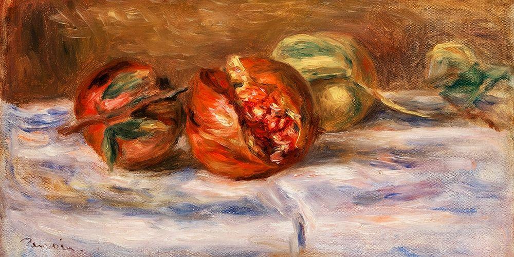 konfigurieren des Kunstdrucks in Wunschgröße Pomegranates 1910 von Renoir, Pierre-Auguste