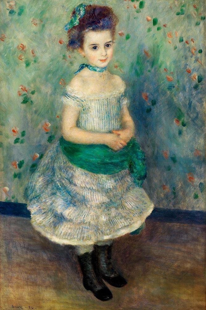 konfigurieren des Kunstdrucks in Wunschgröße Portrait of Jeanne Durand-Ruel 1876 von Renoir, Pierre-Auguste
