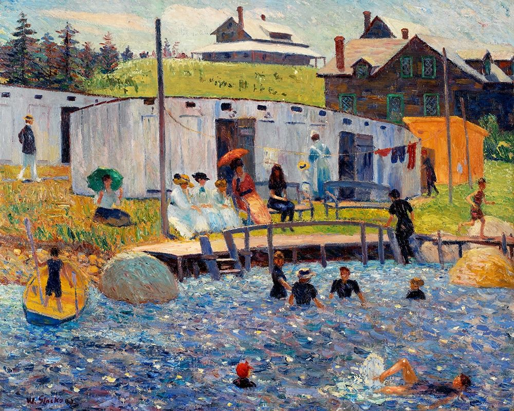 konfigurieren des Kunstdrucks in Wunschgröße The Bathing Hour, Chester, Nova Scotia 1910 von Renoir, Pierre-Auguste