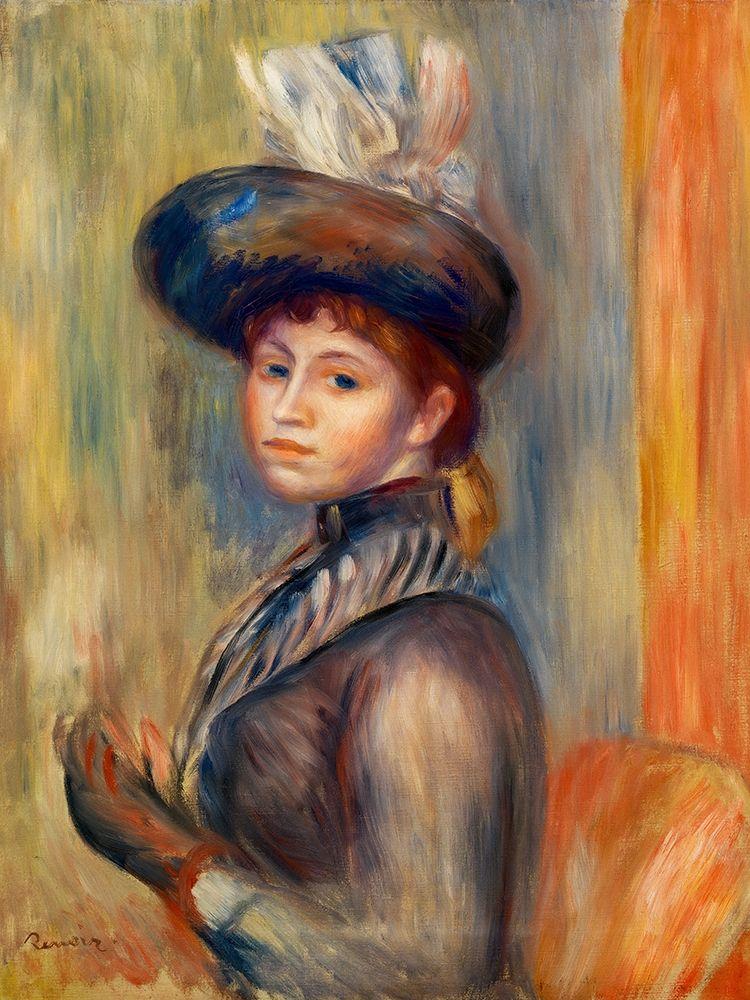 konfigurieren des Kunstdrucks in Wunschgröße Girl in Gray Blue 1889 von Renoir, Pierre-Auguste