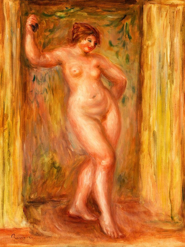 konfigurieren des Kunstdrucks in Wunschgröße Nude with Castanets 1918 von Renoir, Pierre-Auguste