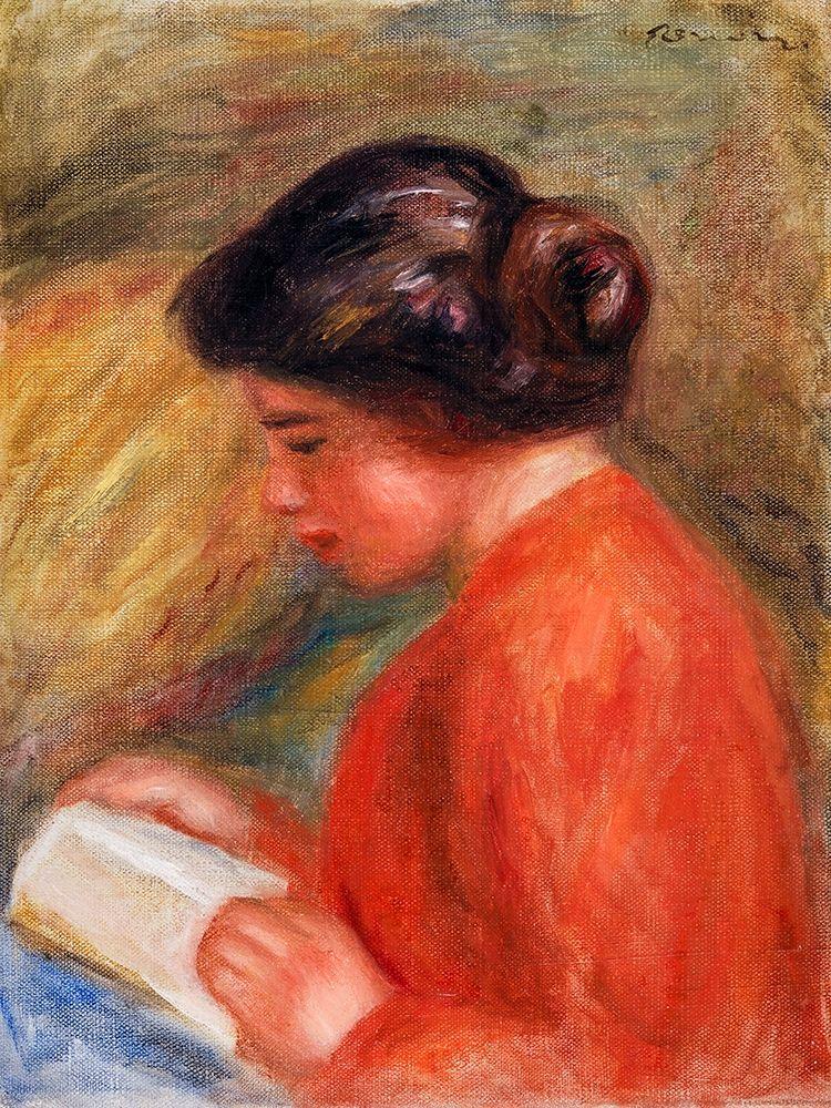 konfigurieren des Kunstdrucks in Wunschgröße Young Woman Reading 1909 von Renoir, Pierre-Auguste