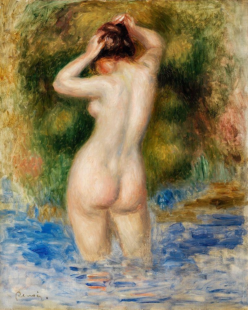 konfigurieren des Kunstdrucks in Wunschgröße Bather 1890 von Renoir, Pierre-Auguste