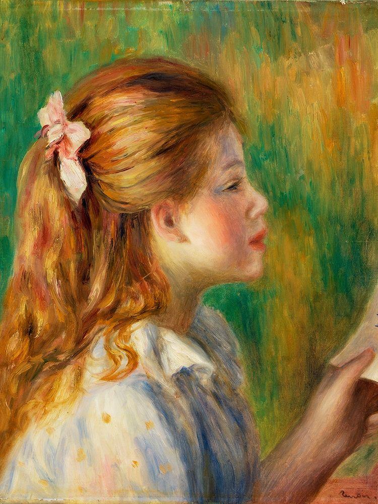 konfigurieren des Kunstdrucks in Wunschgröße Reading 1892 von Renoir, Pierre-Auguste