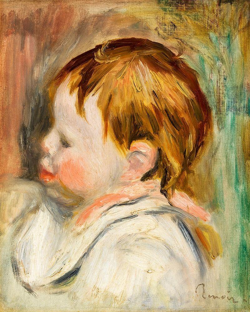 konfigurieren des Kunstdrucks in Wunschgröße Babys Head 1895 von Renoir, Pierre-Auguste