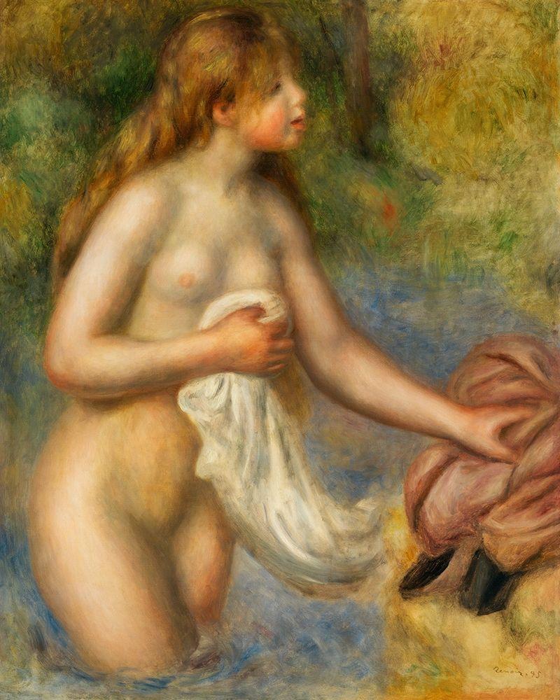 konfigurieren des Kunstdrucks in Wunschgröße Bather 1895 von Renoir, Pierre-Auguste