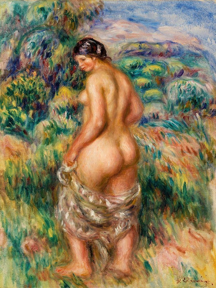 konfigurieren des Kunstdrucks in Wunschgröße Standing Bather 1910 von Renoir, Pierre-Auguste