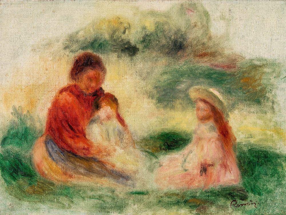konfigurieren des Kunstdrucks in Wunschgröße Young Family von Renoir, Pierre-Auguste
