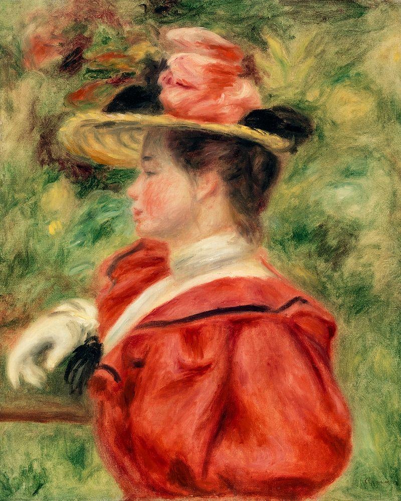 konfigurieren des Kunstdrucks in Wunschgröße Woman with Glove 1893 von Renoir, Pierre-Auguste