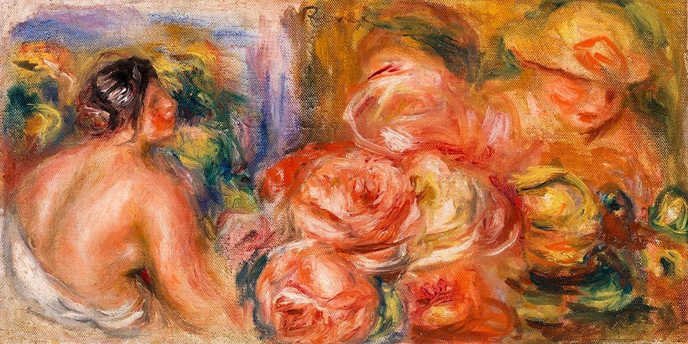 konfigurieren des Kunstdrucks in Wunschgröße Roses and Small Nude 1916 von Renoir, Pierre-Auguste