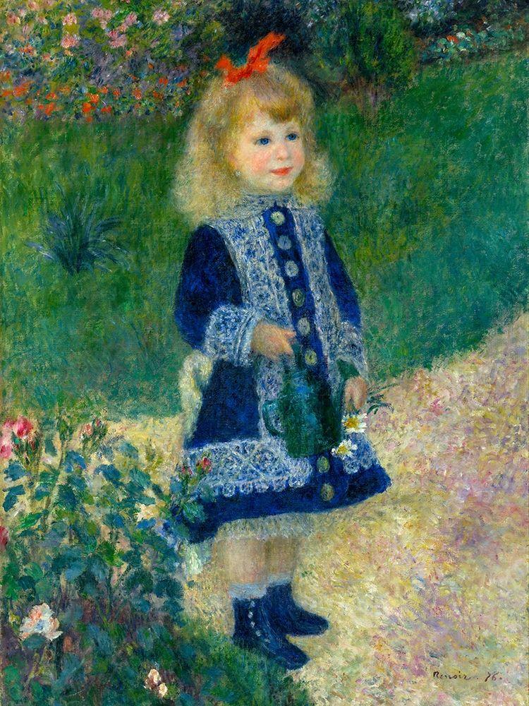 konfigurieren des Kunstdrucks in Wunschgröße A Girl with a Watering Can von Renoir, Pierre-Auguste