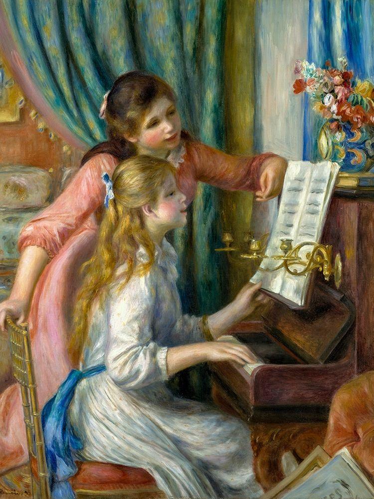 konfigurieren des Kunstdrucks in Wunschgröße Two Young Girls at the Piano von Renoir, Pierre-Auguste