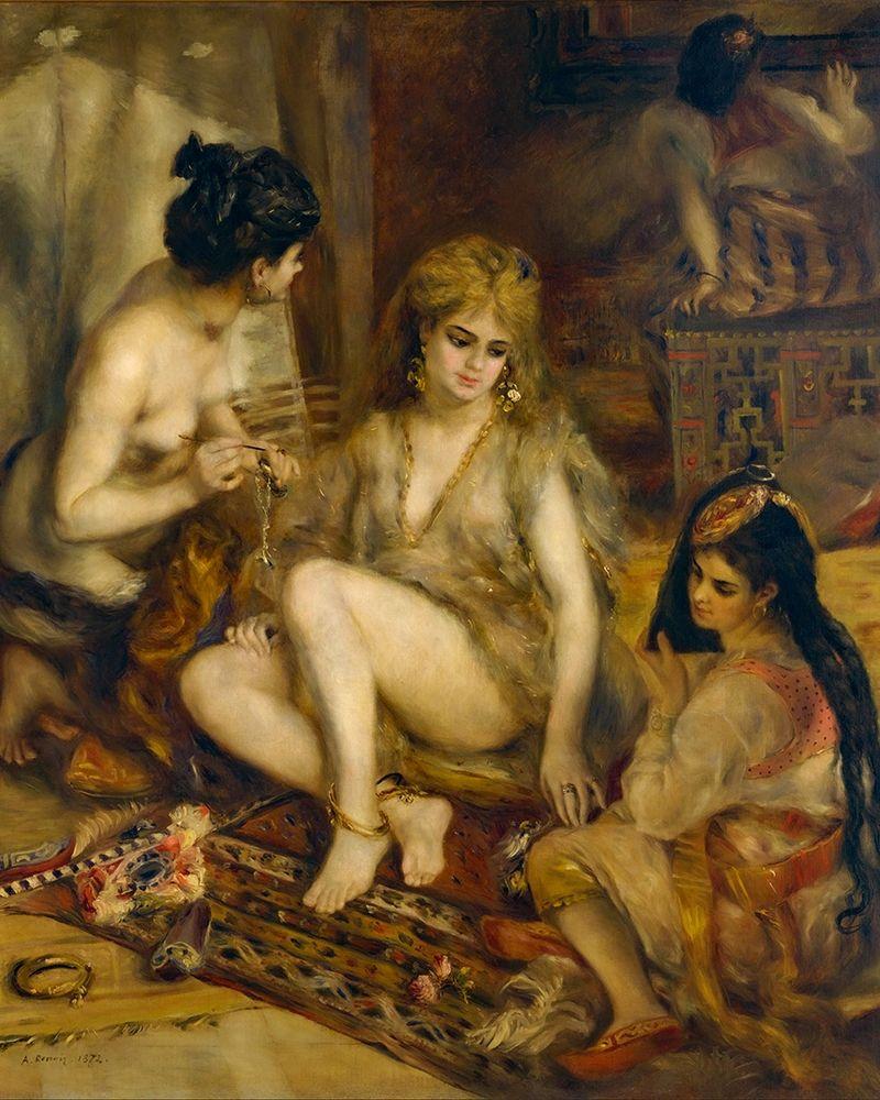 konfigurieren des Kunstdrucks in Wunschgröße Parisiennes in Algerian Costume or Harem von Renoir, Pierre-Auguste