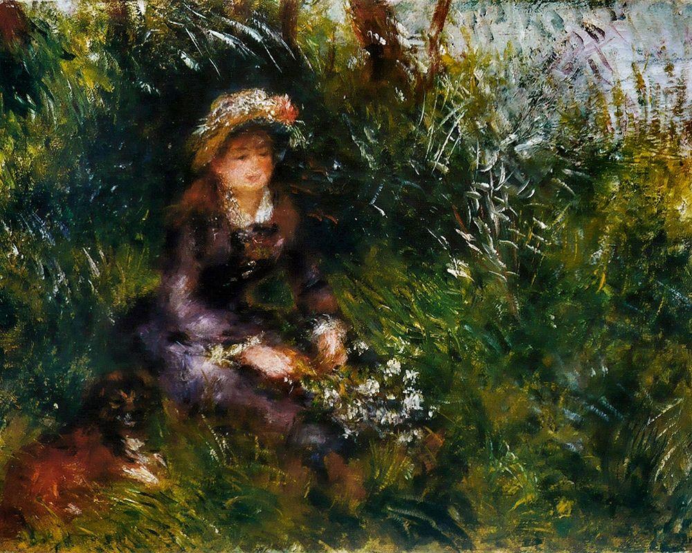 konfigurieren des Kunstdrucks in Wunschgröße Madame Renoir with the dog von Renoir, Pierre-Auguste