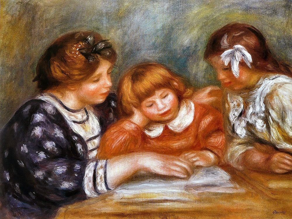 konfigurieren des Kunstdrucks in Wunschgröße The Lesson von Renoir, Pierre-Auguste