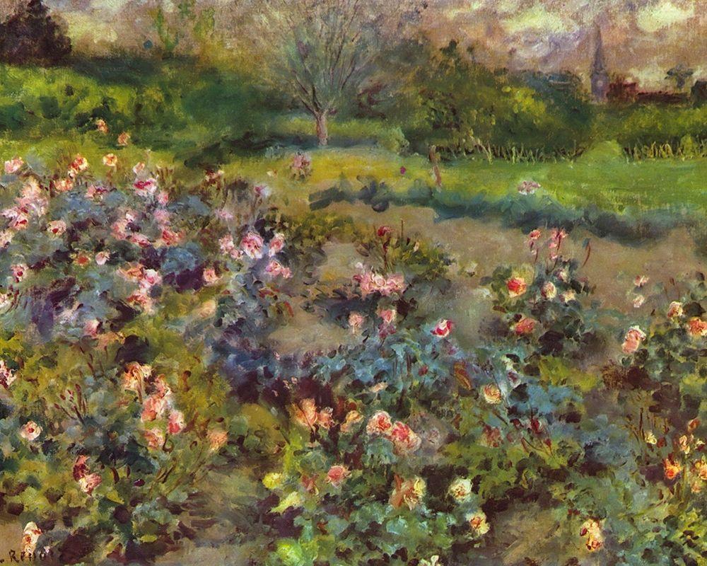 konfigurieren des Kunstdrucks in Wunschgröße Rosenhain von Renoir, Pierre-Auguste
