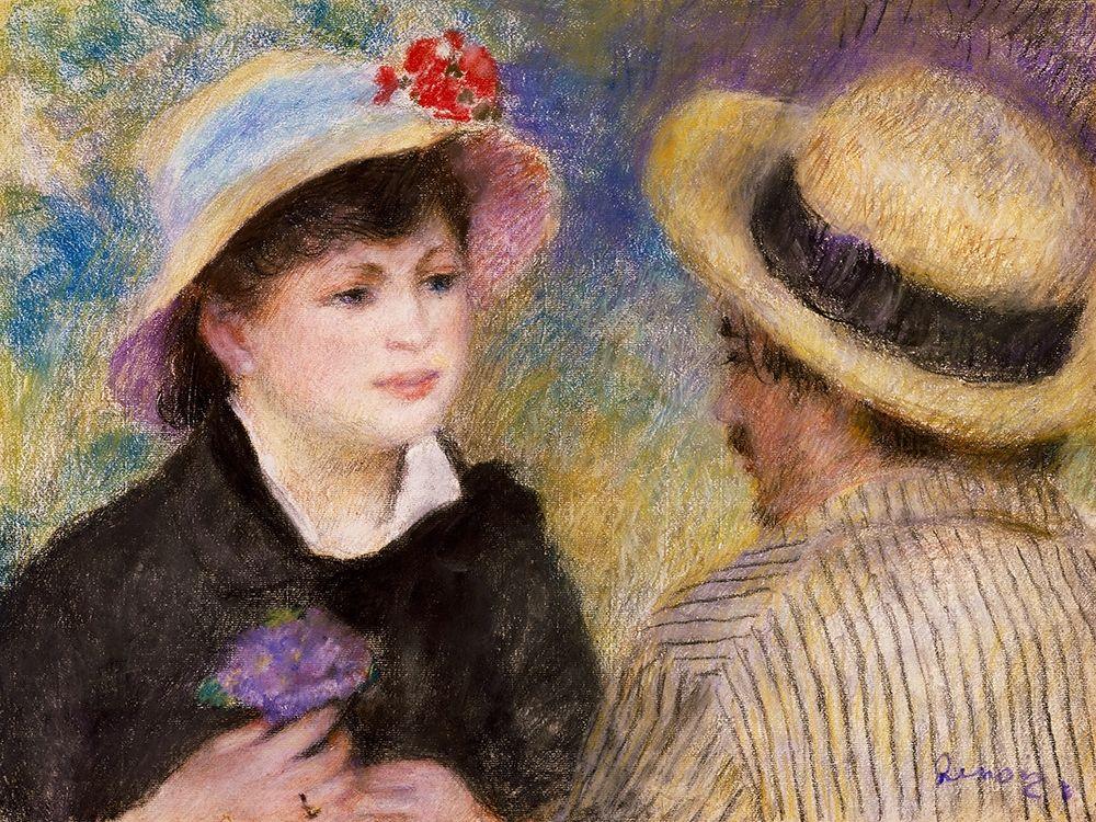 konfigurieren des Kunstdrucks in Wunschgröße Boating Couple von Renoir, Pierre-Auguste
