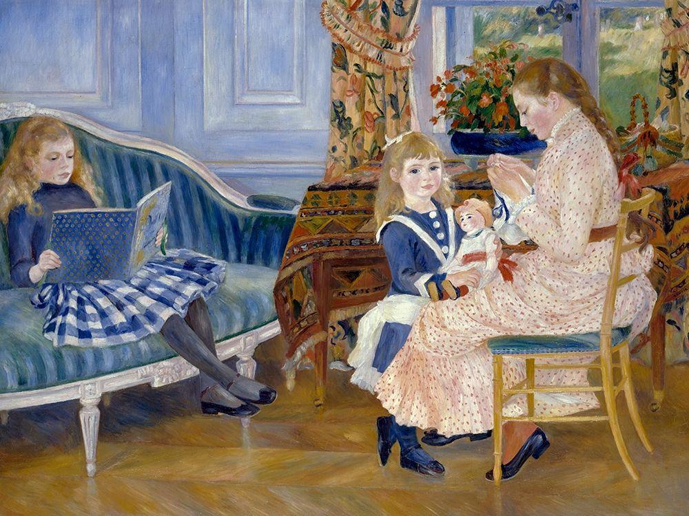 konfigurieren des Kunstdrucks in Wunschgröße Childrens Afternoon at Wargemont von Renoir, Pierre-Auguste