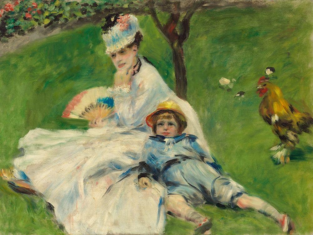 konfigurieren des Kunstdrucks in Wunschgröße Madame┬áMonet and Her┬áSon von Renoir, Pierre-Auguste