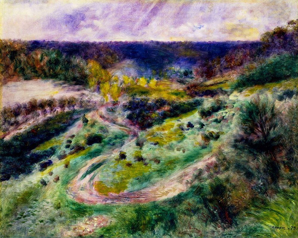 konfigurieren des Kunstdrucks in Wunschgröße Road at Wargemont von Renoir, Pierre-Auguste