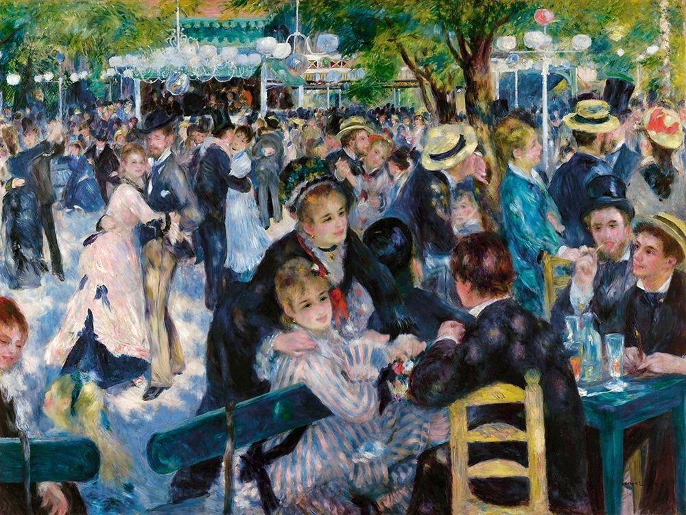 konfigurieren des Kunstdrucks in Wunschgröße Dance at Le Moulin de la Galette von Renoir, Pierre-Auguste